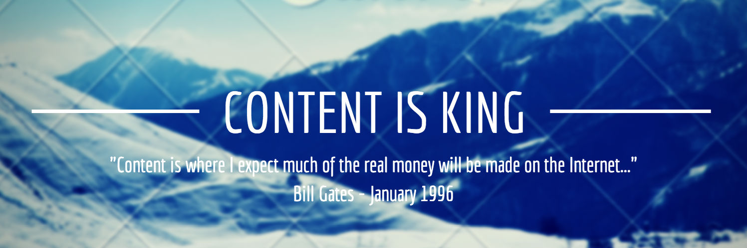 content is king by bill gates content is king bill gates 1 3 1996